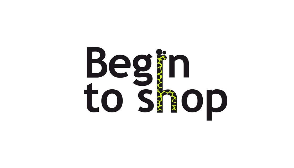 Логотип для интернет-каталога Begin To Shop
