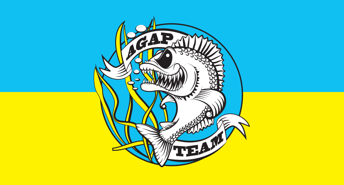 Принт для одежды рыболовецкого бренда AGAP